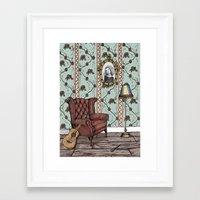 beth hoeckel Framed Art Prints featuring Beth by Liz Ibbotson