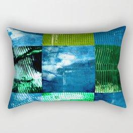 Blue green square Rectangular Pillow
