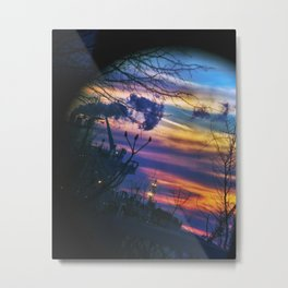 Looking up Fore River at Sunset from Thomas Knight Park in South Portland, Maine (2) Metal Print