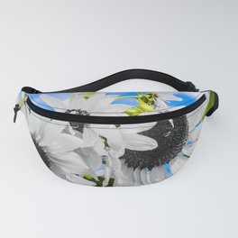 Stripped of color sunflowers Fanny Pack