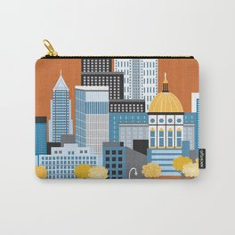 Atlanta, Georgia - Skyline Illustration by Loose Petals Carry-All Pouch
