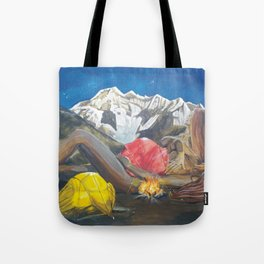 Childbirth camp Tote Bag