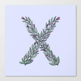 Leafy Letter X Canvas Print