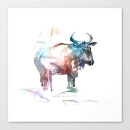 Wildebeest 2 / Abstract animal portrait. Canvas Print