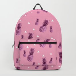 Summer tropical pink pineapple triangle pattern Backpack