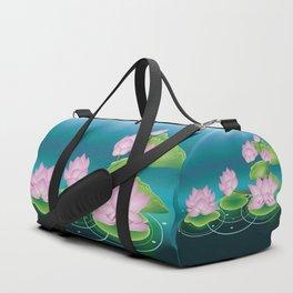 Lotus Flower with Leaves Duffle Bag