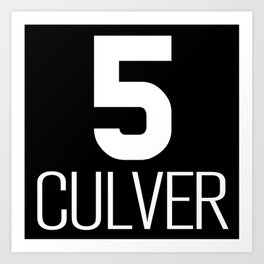 NY vintage subway #5 Culver line Art Print