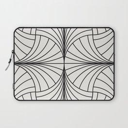 Diamond Series Inter Wave Charcoal on White Laptop Sleeve
