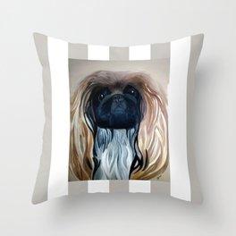 Peke Kara Throw Pillow