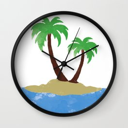 Vacation State of Mind Wall Clock