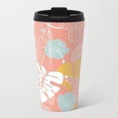 Tropical pattern 057 Metal Travel Mug