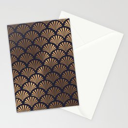 Art Deco Shell Pattern Stationery Cards