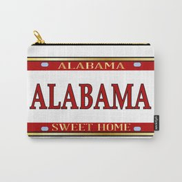 Alabama State Name License Plate Carry-All Pouch
