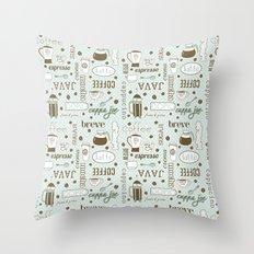 Java me crazy Throw Pillow