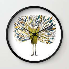 Poofy Tree Fluff Wall Clock