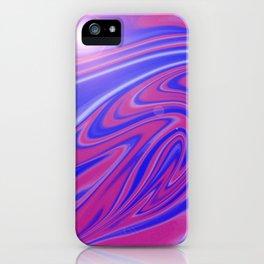 Blue & Pink Swirl Wave iPhone Case