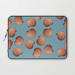 Light blue Big Clam pattern Illustration design Laptop Sleeve