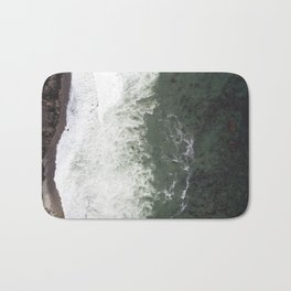 Where the Seaweed Meets the Coast  |  Drone Photography Bath Mat