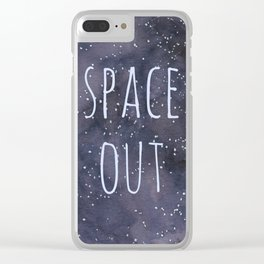 Space Out Clear iPhone Case
