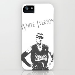 White Iverson iPhone Case