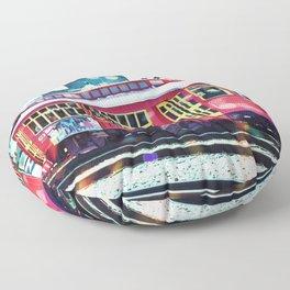Bokeh Streetcar Floor Pillow