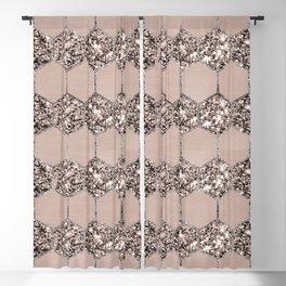 Blush Hexagon Glitter Glam #2 #geometric #decor #art #society6 Blackout Curtain