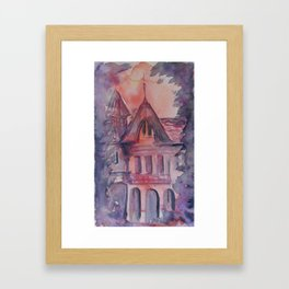 Sunset House Framed Art Print