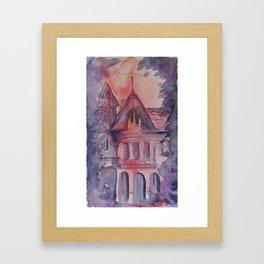Sunset House Framed Art Print