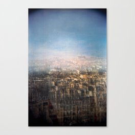 Paris Multiple Exposure  Canvas Print