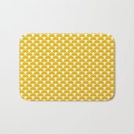 Dragon Scales Mustard Bath Mat