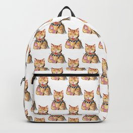 BDSM cat Painting Wall Poster Watercolor Backpack