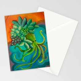 Octopusucculent Stationery Cards