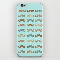 mustache iPhone & iPod Skins featuring Mustache! by Luly Lauredo