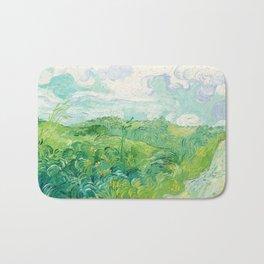 Green Wheat Fields - Auvers, by Vincent van Gogh Bath Mat