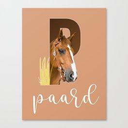 Paard - dierenalfabet Canvas Print