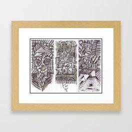 "WIIP™,""3 Panel"" (Pop!,Insomnia!... & Colonel Cube) (2015) Framed Art Print"