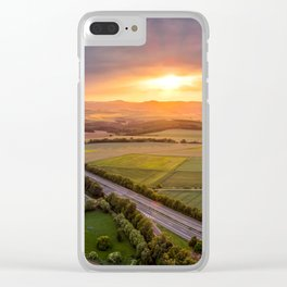 Sunet panoramic shot Clear iPhone Case