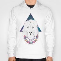 lion king Hoodies featuring King Lion by Katell Desormeaux
