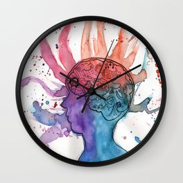 This Is Your Brain On Inspiration Wall Clock