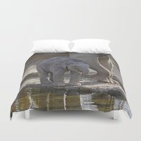 baby elephant Duvet Covers featuring Elephant Baby by MehrFarbeimLeben
