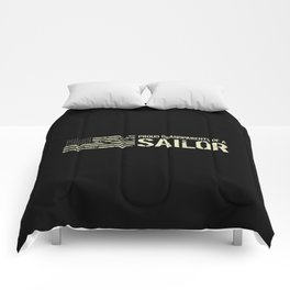 Proud Grandparents of a Sailor Comforters