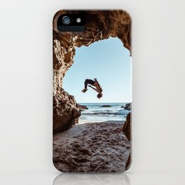 Backflip in a Cave iPhone Case