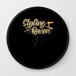 Styling Queen | Gift Idea Hairdresser Wall Clock
