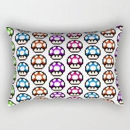 Multicoloured Mushrooms Rectangular Pillow