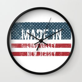 Made in Long Valley, New Jersey Wall Clock