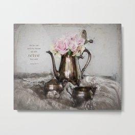 Antique Tea Pot* Metal Print