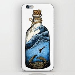 Deep blue bottle iPhone Skin