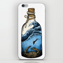 Deep blue bottle iPhone Skin