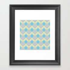 Diamond Art Deco; - Blue Framed Art Print