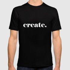 Create. Black MEDIUM Mens Fitted Tee